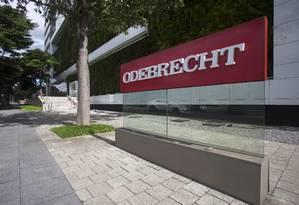 Sede da Odebrecht no bairro do Butantã, em São Paulo Foto: Edilson Dantas/Agência O Globo/08-05-2018