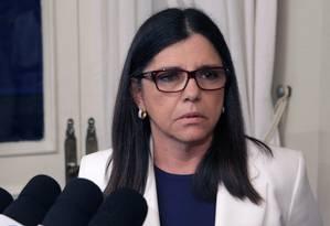 Roseana Sarney, durante coletiva de imprensa na semana passada Foto: Hans Von Manteuffel / Agência O Globo
