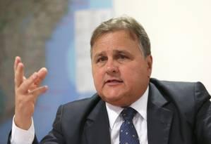 O ex-ministro Geddel Vieira Lima durante entrevista Foto: Jorge William/Agência O Globo/06-06-2016