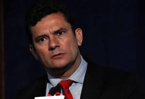 O juiz federal Sergio Moro, durante evento sobre as operações Mãos Limpas e Lava-Jato Foto: Edilson Dantas/Agência O Globo/24-10-2017