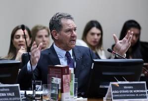 João Otávio de Noronha, durante sessão do CNJ Foto: Luiz Silveira/CNJ/26-06-2018