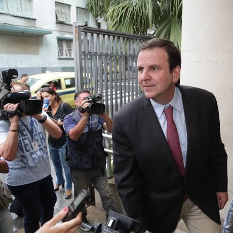 O ex-prefeito do Rio Eduardo Paes (DEM) 08/03/2018 Foto: Márcio Alves / Agência O Globo