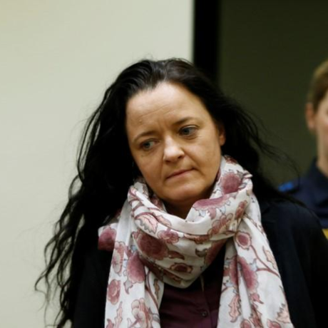A acusada Beate Zschäpe em tribunal na Alemanha, em 31 de janeiro de 2018 Foto: Michaela Rehle / REUTERS