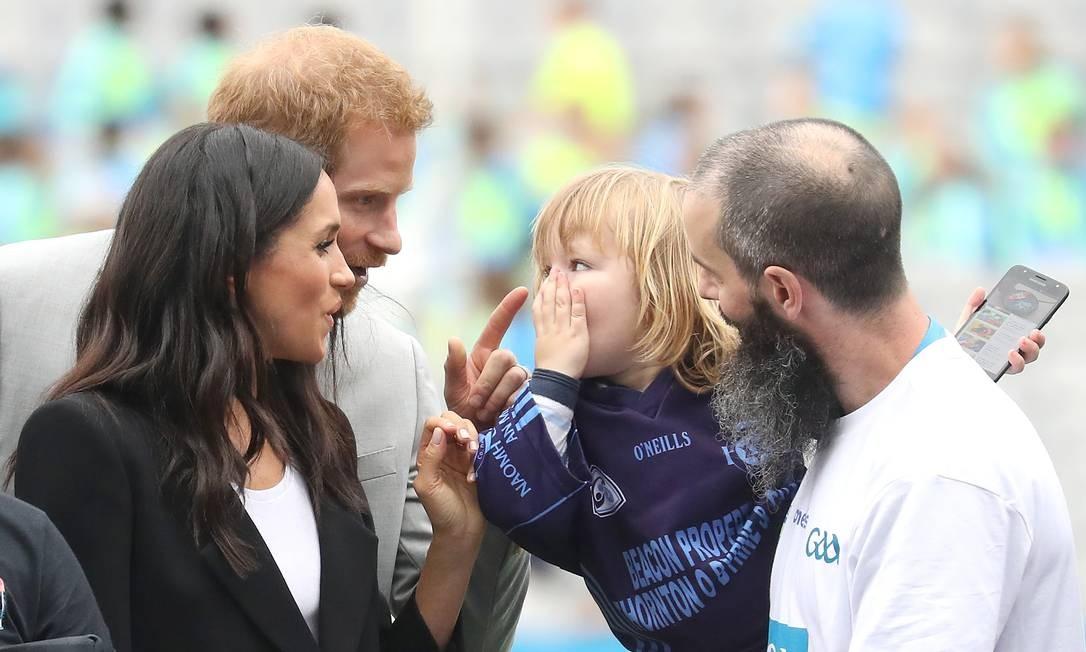 O encontro fofo do casal com uma criança de anos Chris Jackson / Getty Images