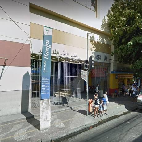 A estação de Bangu, onde ocorreram os estupros Foto: Google Street View / Reprodução