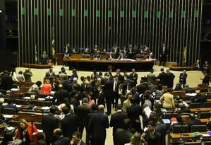 Com quatro partidos, blocão tem uma bancada de 124 deputados Foto: Ailton de Freitas / Agência O Globo