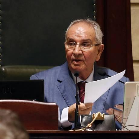 O presidente da Câmara do Rio, Jorge Felippe (MDB) Foto: Marcos de Paula 22-12-2017 / Agência O Globo