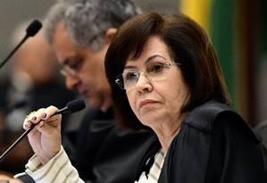 A presidente do STJ, ministra Laurita Vaz, durante sessão da Corte Especial Foto: Gustavo Lima/STJ/19-12-2017