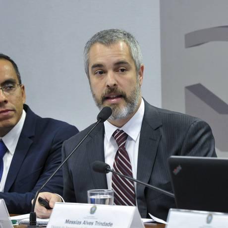 O gerente de regulação da ANS, Rafael Pedreira Vinhas, durante audiência na Comissão de Assuntos Sociais(CAS) do Senado Foto: Geraldo Magela/Agência Senado