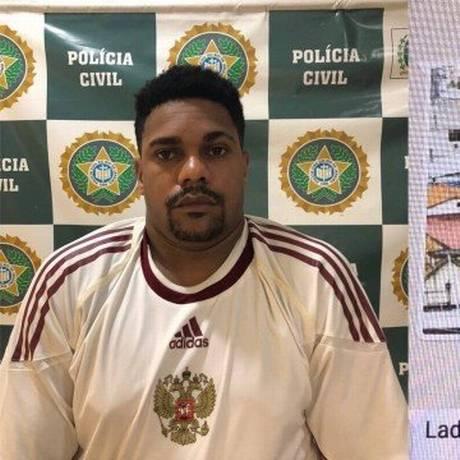 Chandoca foi encontrado em casa, no Cantagalo Foto: Divulgação/Polícia Civil