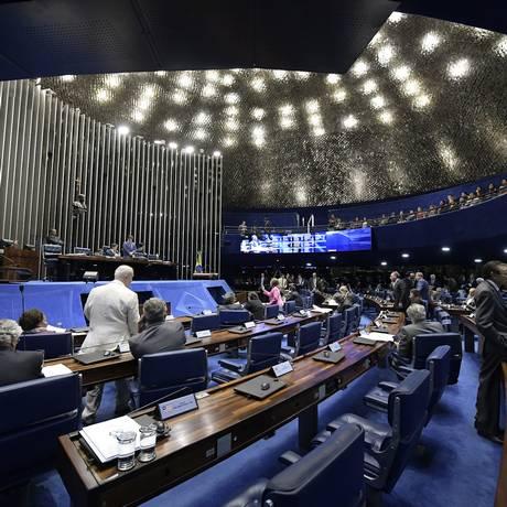 Plenário do Senado durante votação Foto: Waldemir Barreto/Agência Senado