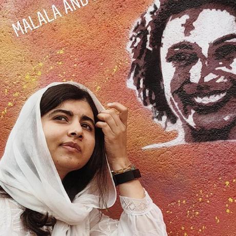 Malala faz desenho da vereadora Marielle Franco Foto: Reprodução/@luisadorr