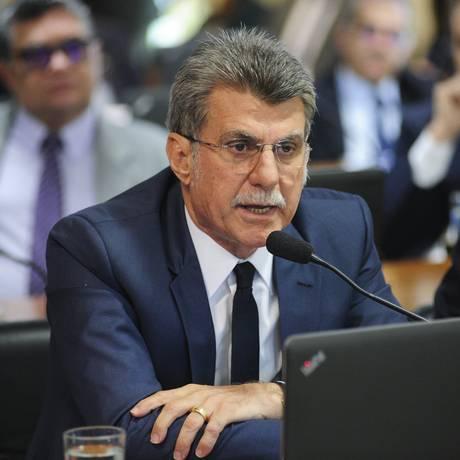 O senador Romero Jucá (MDB-RR) na Comissão de Assuntos Econômicos (CAE) do Senado Foto: Pedro França/Agência Senado/10-07-2018