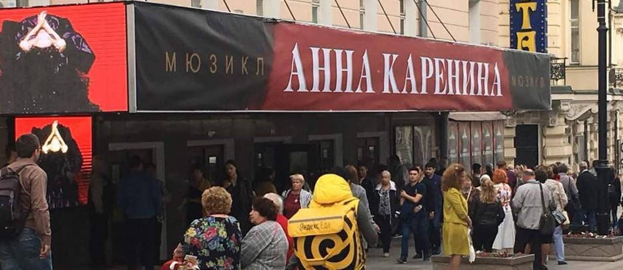 Um dos teatros de Moscou Foto: Vivian Oswald