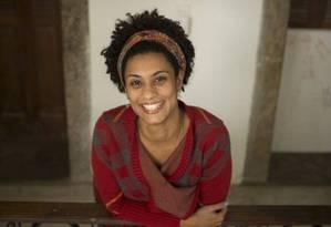 Marielle Franco foi assassinada em 14 de março de 2018 no Estácio Foto: Márcia Foletto / Divulgação