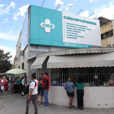 TCM aponta que Clínica Guanabara, em Olaria, Zona Norte do Rio, fez mais procedimentos que agendamentos Foto: Guilherme Pinto / Agência O Globo