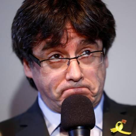 Ex-presidente da Catalunha Carles Puigdemont Foto: Hannibal Hanschke / REUTERS