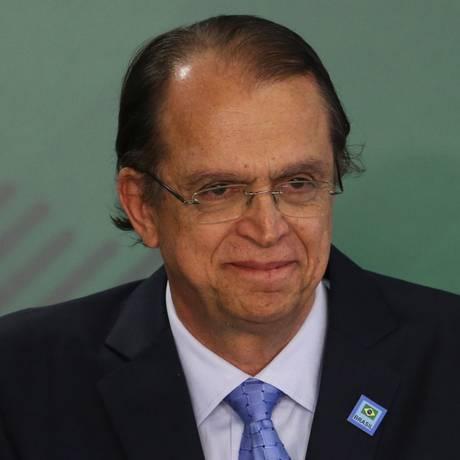 O novo ministro do Trabalho, Caio Luiz de Almeida Vieira de Mello, durante cerimônia de posse no Planalto Foto: Givaldo Barbosa / Agência O Globo