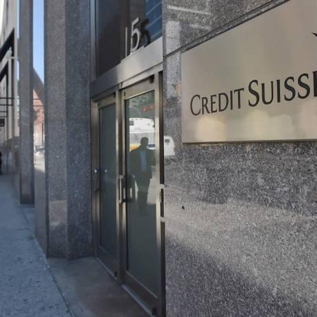 Prédio do Credit Suisse em Nova York Foto: EMMANUEL DUNAND / AFP