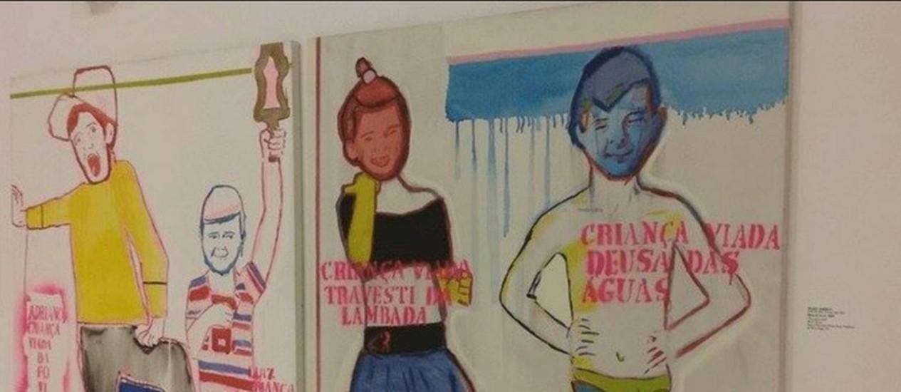 'Travesti da lambada e deusa das águas' de Bia Leite: uma das obras a ser exibida na exposição Queermuseu Foto: Reprodução