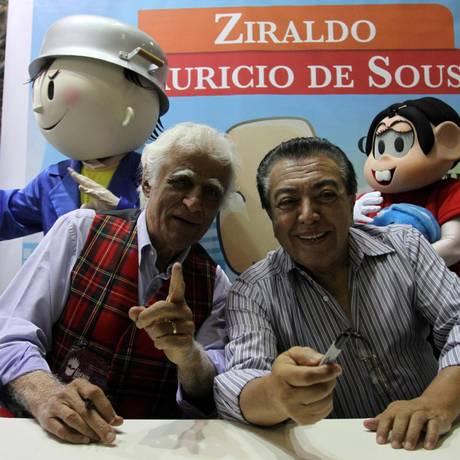 Mauricio de Sousa e Ziraldo Foto: Rafael Moraes