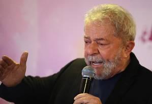 O ex-presidente Lula participa de evento em Brasília Foto: Jorge William/Agência O Globo/07-10-2017