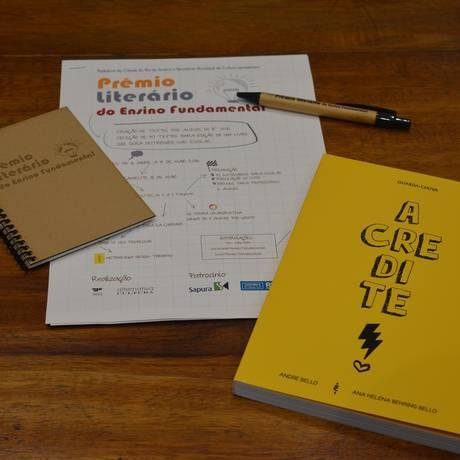 Materia pedagógico distribuído a escolas que participam do prêmio Foto: Divulgação