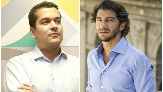 Leandro Monteiro e Fabio Szwarcwald: em reunião com governador ficou acertada permanência de diretor Foto: Fotos Agência O Globo