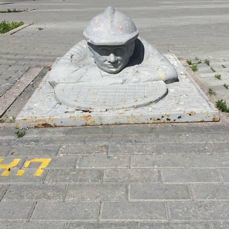 Um dos monumentos espalhados pela Rússia Foto: Renato de Alexandrino