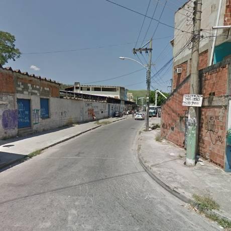 A Vila Kennedy, onde o PM foi baleado Foto: Google Street View / Reprodução