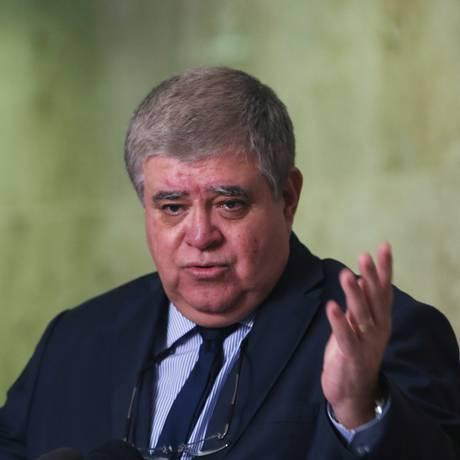 O ministro-chefe da Secretaria de Governo, Carlos Marun, durante entrevista Foto: Givaldo Barbosa/Agência O Globo/09-07-2018