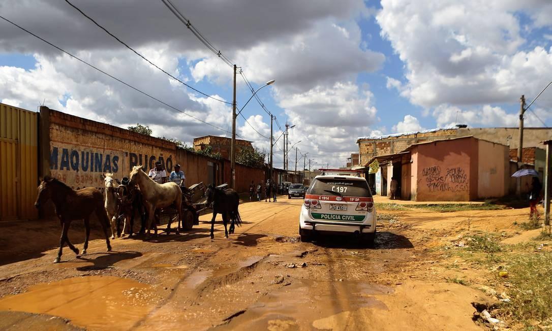 Área dominada pelo tráfico de drogas no Sol Nascente Jorge William / Agência O Globo