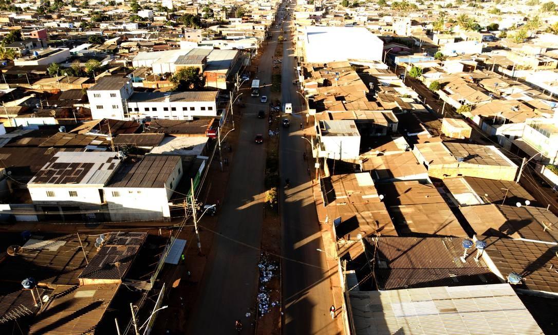 Foto aérea da favela Jorge William / Agência O Globo