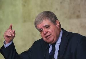 O ministro da Secretaria de Governo, Carlos Marun, durante entrevista Foto: Givaldo Barbosa/Agência O Globo/09-07-2018