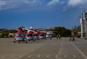 Com infraestrutura precária, aeroporto de Macaé não tem voos comerciais regulares desde setembro de 2015. A Infraero está fazendo obras de adequação da pista antes da licitação do terminal Foto: Roberto Moreyra / Agência O Globo