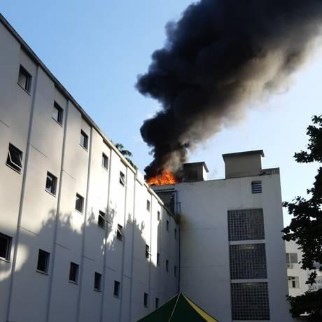 Curto em sistema de ar condicionado causou incêndio em prédio anexo da Casa de Rui Barbosa Foto: Reprodução / O GLOBO