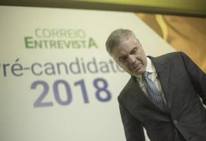 Flávio Rocha desiste de candidatura pelo PRB: 'Jogamos a toalha' 06/06/2018 Foto: Daniel Marenco / Agência O Globo