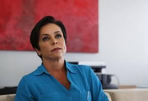 A deputada Cristiane Brasil (PTB-RJ), durante entrevista Foto: Michel Filho/Agência O Globo/22-02-2018