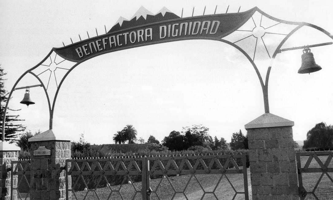 Passado de horror: a Colônia Dignidade, no Chile: fundada por ex-nazista, foi cenário de pedofilia, abusos físicos e, por fim, tortura durante o regime militar Foto: Divulgação/1988