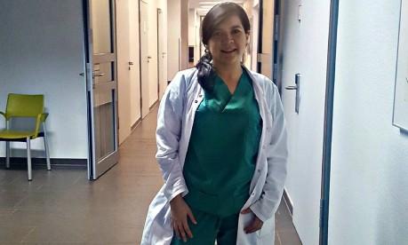 """Fluência em alemão. A boliviana Valeria Villafani trabalha no Hospital Borromäus de Leer: """"Idioma é maior obstáculo"""" Foto: Graça Ruether-Magalhães / Arquivo pessoal"""