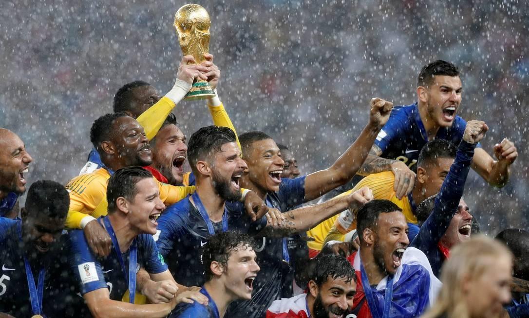 França conquista a Copa ao vencer a Croácia por 4 a 2 DARREN STAPLES / REUTERS