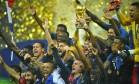 França conquista a Copa ao vencer a Croácia por 4 a 2 Foto: DYLAN MARTINEZ / REUTERS