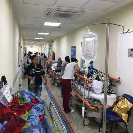 Corredor da nova emergência do Hospital Federal de Bonsucesso, com onze leitos, no Rio de Janeiro Foto: Gabriel de Paiva / Corredor da emergência do Hospital Federal de Bonsucesso