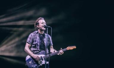 Pearl Jam faz show no palco do NOS Foto: Arlindo Camacho / Divulgação