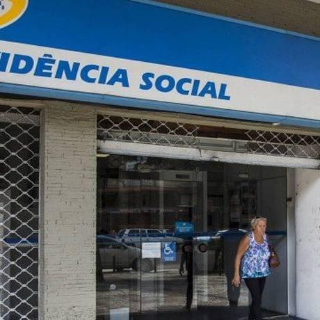 Posto do INSS: atendimentos só com agendamento prévio Foto: Guito Moreto / Agência O Globo