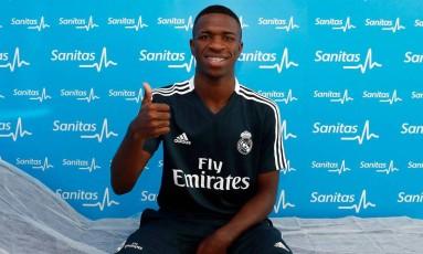Vinícius Junior passou por exames com demais jogadores do elenco do Real Madrid Foto: Divulgação / Real Madrid