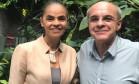 Marina Silva e Eduardo Bandeira de Mello no almoço que selou a filiação Foto: Arquivo pessoal