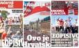 Três das capas de jornais croatas Foto: Reprodução