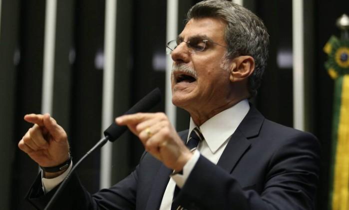 O senador Romero Jucá Foto: André Coelho / Agência O Globo