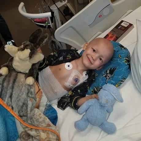 Garrett Michael Matthias foi diagnosticado com câncer há nove meses Foto: Emilie Matthias